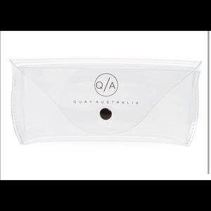 Quay Australia x Desi Perkins clear sunglass cases